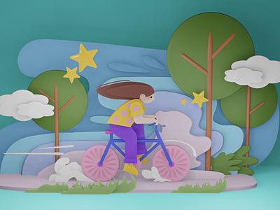 Bicycle Girl illustration