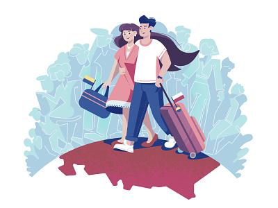 Immigrants illustration