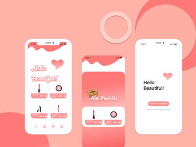 UI for Cosmetic App logo branding app vector ux ui icon