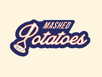 Feedback Wanted: Mashed Potatoes Jerseys Dribbble twill patch masher potatoes mashed jersey hockey