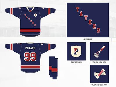 Mashed Potatoes –Away Jerseys ny rangers smelling salt mashed potatoes hockey jersey ranger masher potato hockey