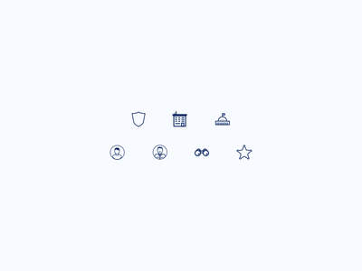 Some tiny icons cop avatar sheriff badge star shield building government icons icon police