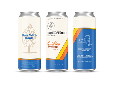 Another unused concept for Beer Tree vintage retro new york 16oz beer can brewery ipa beer 4runner