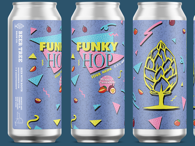 Beer Tree Brew Co - Funky Hop Re-label 16oz neipa saved by the bell beer label beer can beer art 90s