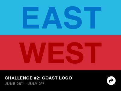 East Coast vs West Coast Challenge 2: Coast Logo ewdc playoff design challenge east west