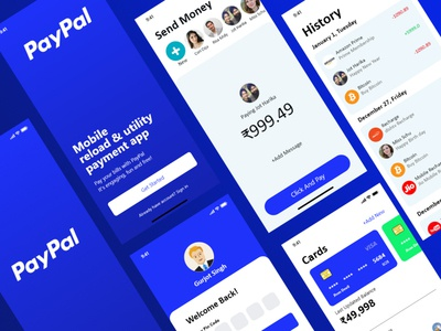 PayPal app Redesign vector ux payment typography music player music app logo illustration icon design branding app paypal