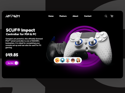 PS5 Controller Webpage Design web page page web sells selling training launch free template page landing ps4 ps5
