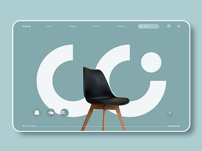 COCO Studio landingpage furniture app logo branding web design ux ui