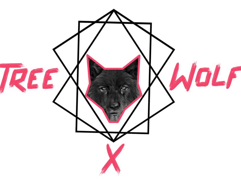 TreeWolfGeometric geometric art illustration geometry geometric wolf black logo design x geometric wolf tree treewolf