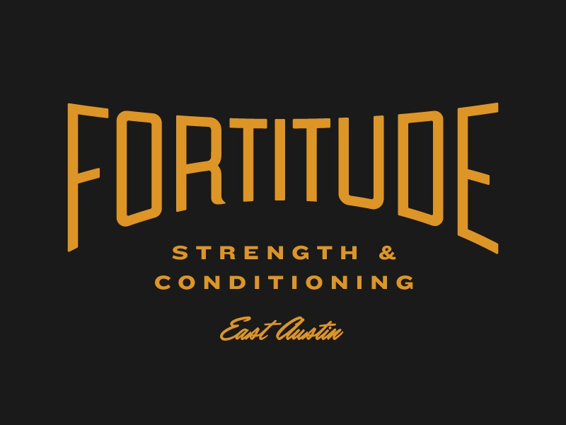 Fortitude Fitness crossfit gym typography