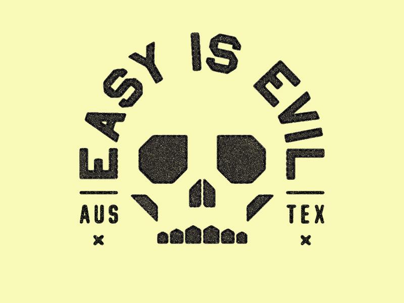 Easy is Evil... crossfit skull