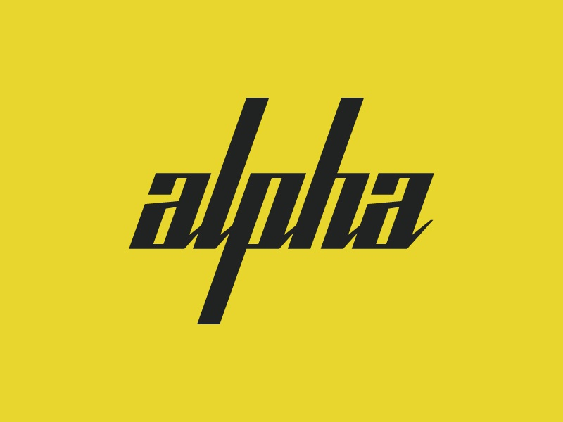 alpha-bet your ass this didn't get picked script geometric logotype