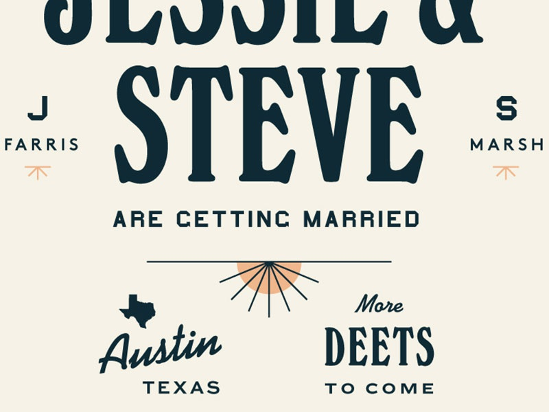We'z gettin' married texas save the date
