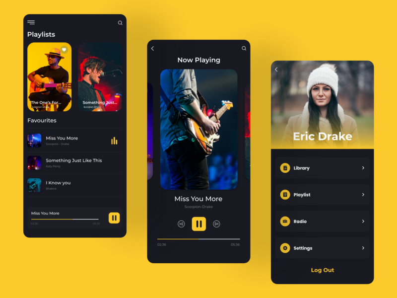 Music App webdesign hiphop playlist music player player song branding ux ui artist appconcept musically musician uidaily design mobile app userinterface appdesign music app