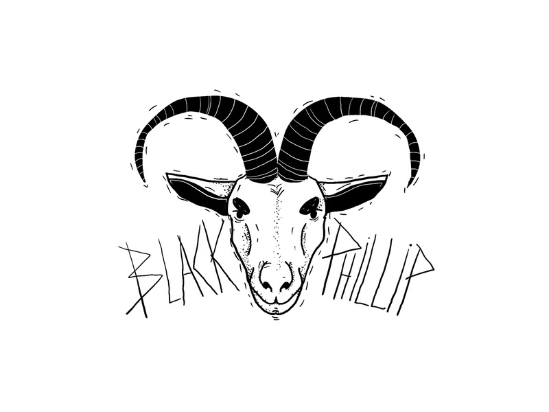 black phillip sketch horn witch phillip black goat