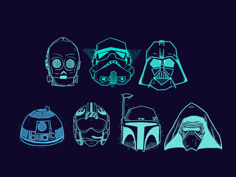 star wars r2d2 bobba fett pilot stormtrooper c3p0 c3po kylo ren darth vader helmets star wars