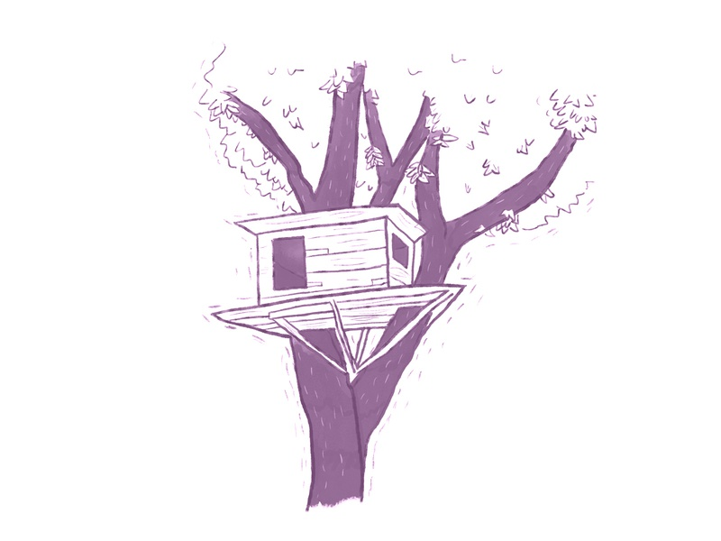treehouse inktober wood ink treehouse house tree cute