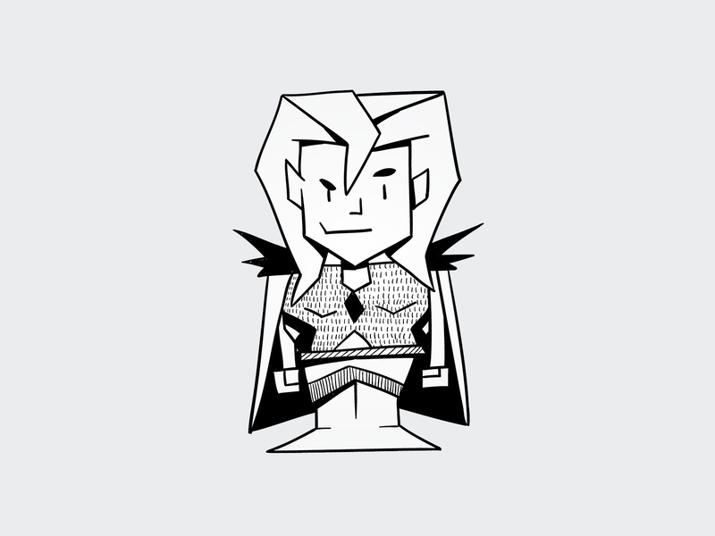 warlock wizard elf girl geometric warlock cute