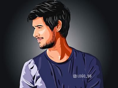 Dhruv Rathee #illustration Visit our Instagram : Logo_96