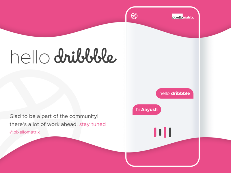 Hello Dribbble! minimal ux hello dribbble design ui