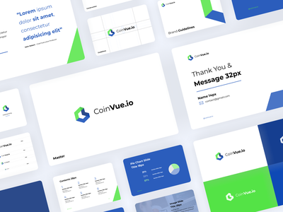 Coinvue - Branding and Presentation app typography vector concept coin hexagon logo crypto exchange icon logo design modern guide book clean brand guidelines brand identity spotlight presentation branding wallet crypto wallet cryptocurrency