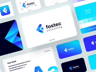 Fostec - Logo and Brand Guidelines fostec motion graphics graphic design business card landing page uiux professional logo design guidelines social media modern consulting logo design brand guideline branding brand identity brand guidelines app