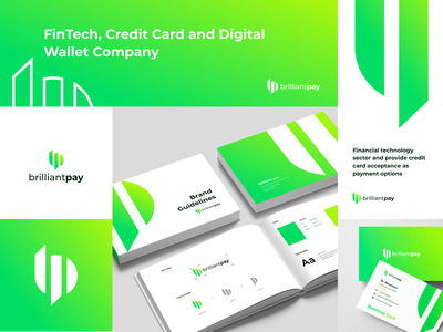 Brilliant Pay - Logo and Brand Guidelines wallet digital fintech business cards uiux clean modern fresh style guide brand book graphic design professional brand guidelines logo design brand guideline branding brand identity app pay payment