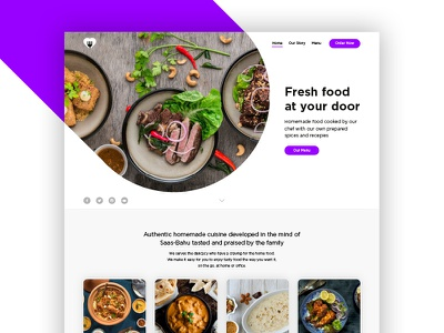 TFK Landing Page design ux website web user interface user experience ui restaurant landing page illustration food
