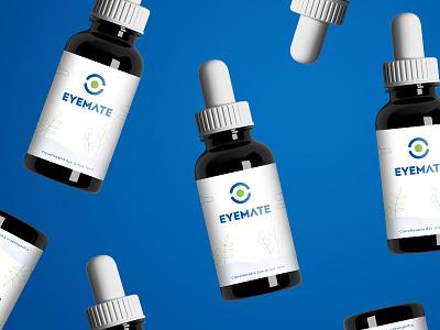 Eye drops packaging bottle identity logo illustration design branding packaging