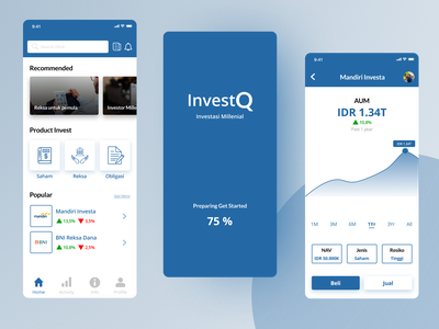 InvestQ, Design of Investment Mobile Apps ios apps branding app investment investment app finance finance app apps design ios app ios app design ui design
