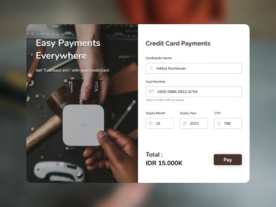Credit Card Payments finance ui credit card payment credit card checkout daily ui daily ui 002