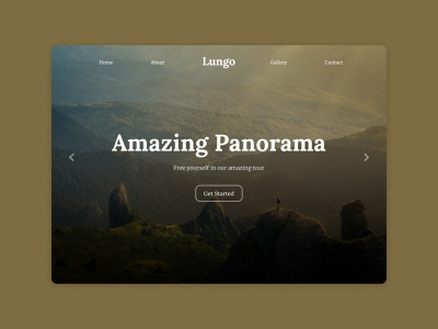 Landing Page branding panorama travel design ui dailyuichallenge dailyui 003