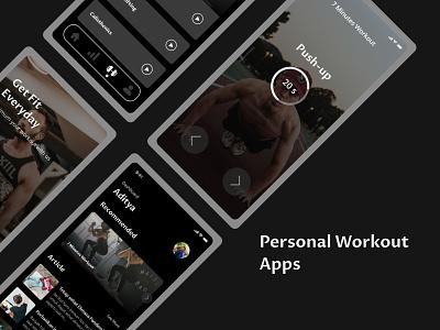 Personal workout apps hiit workout workout app branding app apps design design ui