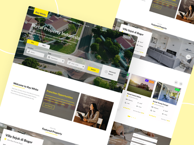 Ray White Redesign Landing Page landing page landing page design landingpage branding design ui