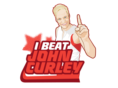 I Beat John Curley design branding logo vector flat illustration