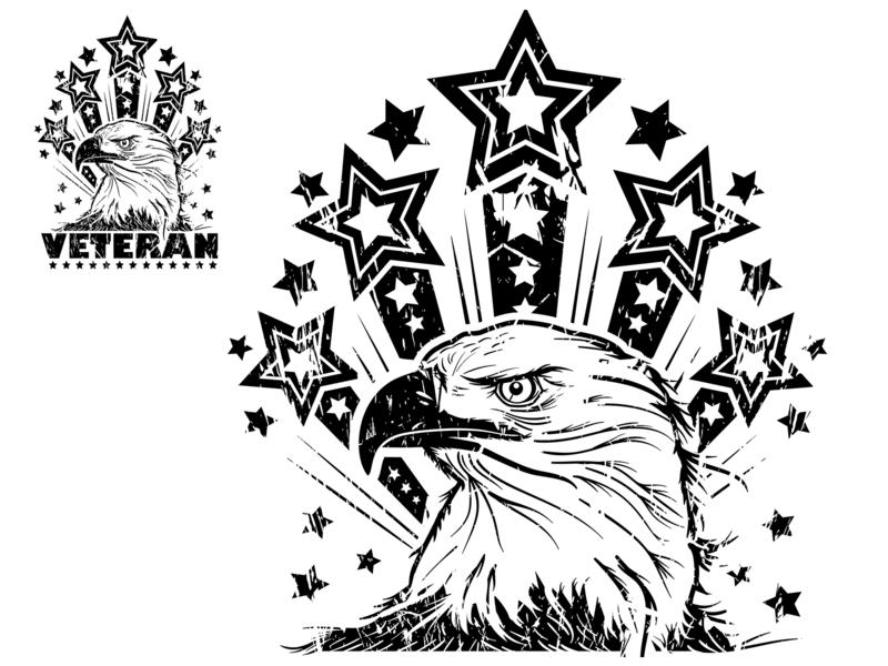 Eagle and Stars design vector illustration
