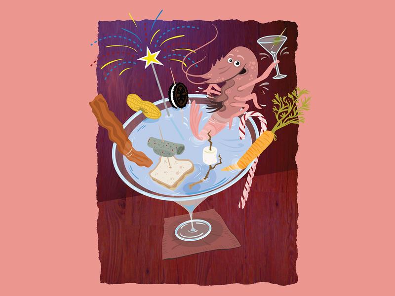 Whiskey Magazine Illustration editorial editorial illustration vector illustration