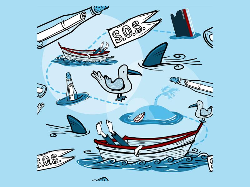 Nautical pattern design vector illustration