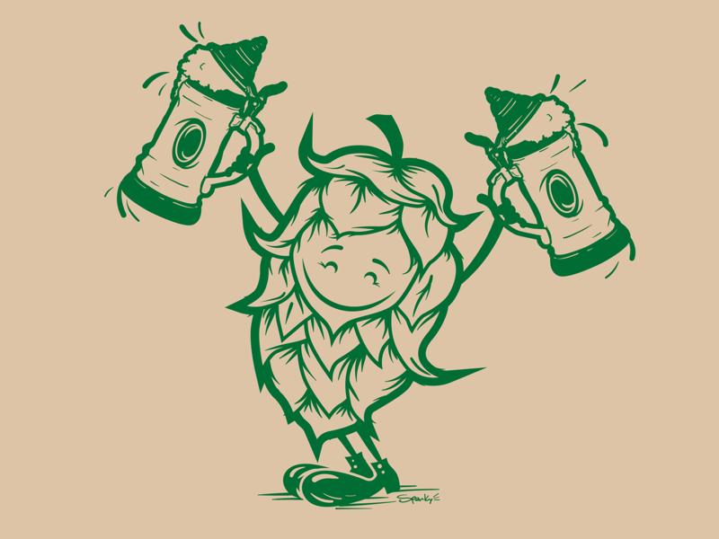 Hoppy logo icon branding vector illustration