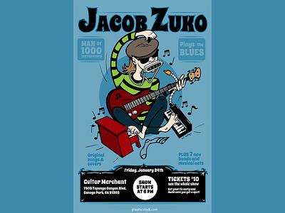 Jacob Zuko gig poster poster vector illustration