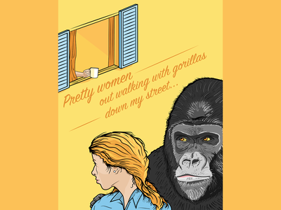 Is She Really Going Out With Him? book cover art editorial illustration design vector illustration