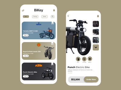 Bike UI colorful trending trendy trend user experience userinterface ui mobile app mobile dribbble best shot minimal application app design