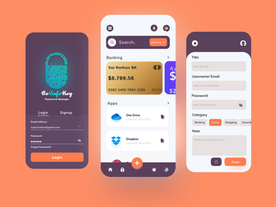 Password Manager uidesign minimal design app trendy dribbble best shot dribbble app design ux ui