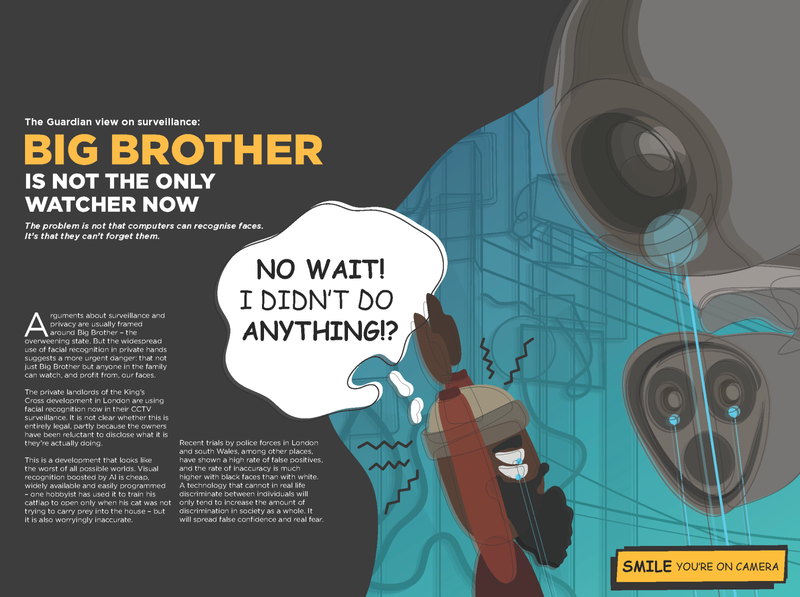 Big Brother vector flat typography design illustration