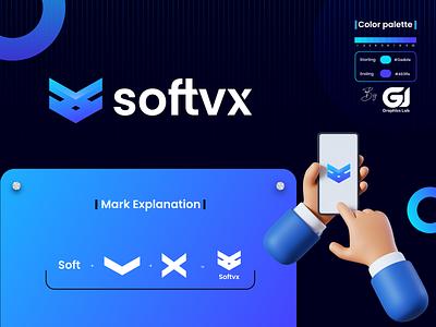 Softvx Brand Identity modern identity branding logo design minimal
