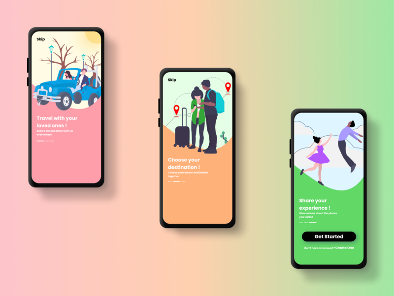 Travel Application travelling travel app new concept uidesign creative illustration design app design