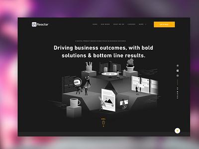 Product Design Studio Homepage homepage layout website design website marketing hero studio product ui