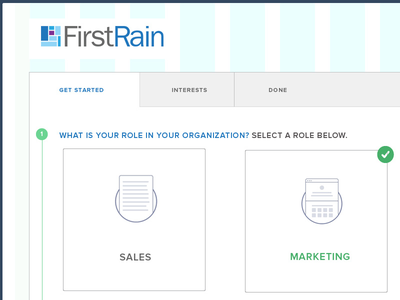 Marketing Role onboarding user