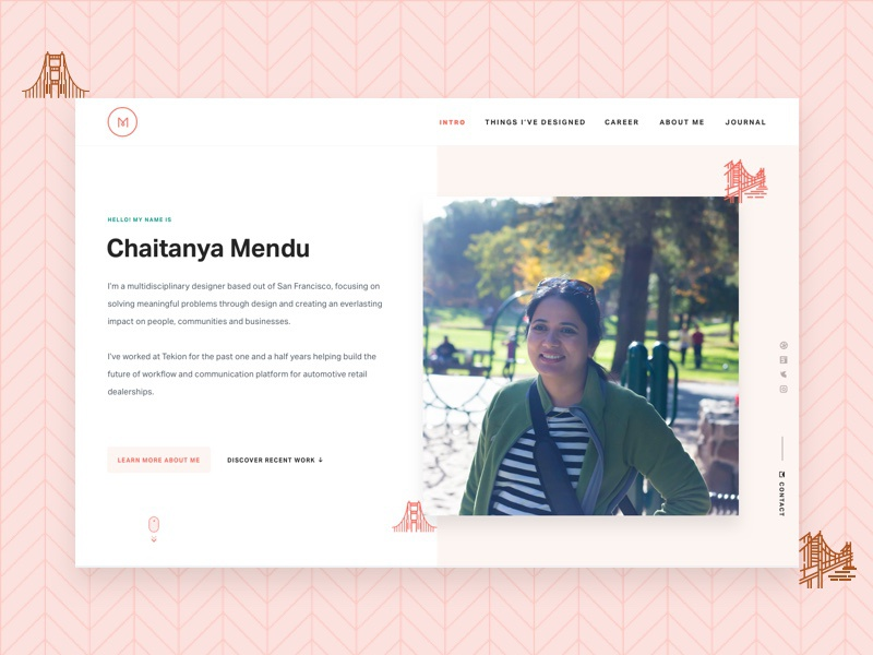 Dribbble shot   chaitanya portfolio intro
