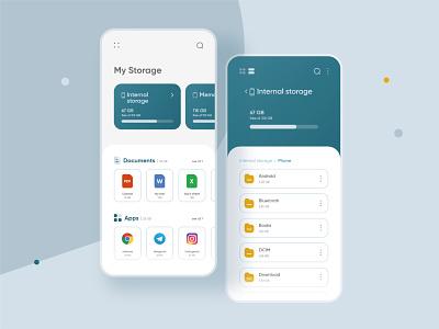 File Manager folder mobile app mobile ui design file manager file xd adobe xd ux app ui design